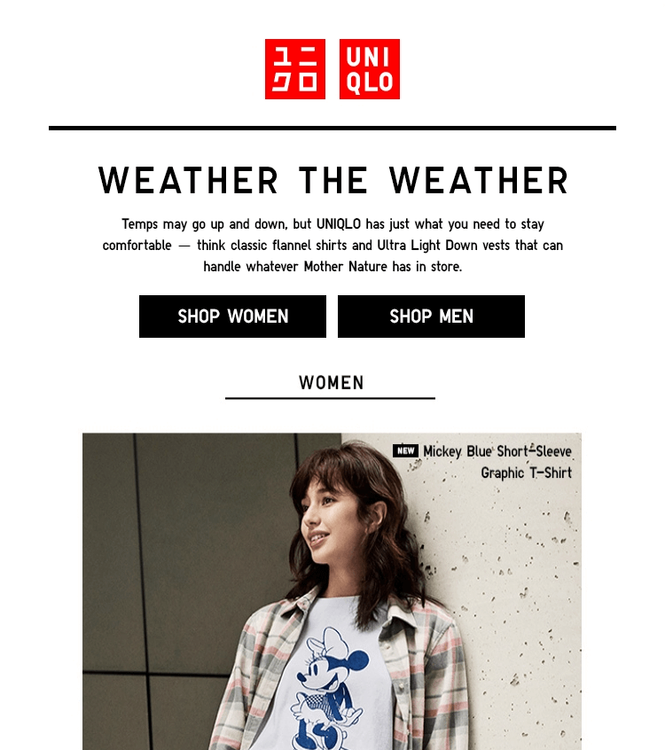 Uniqlo Email Template