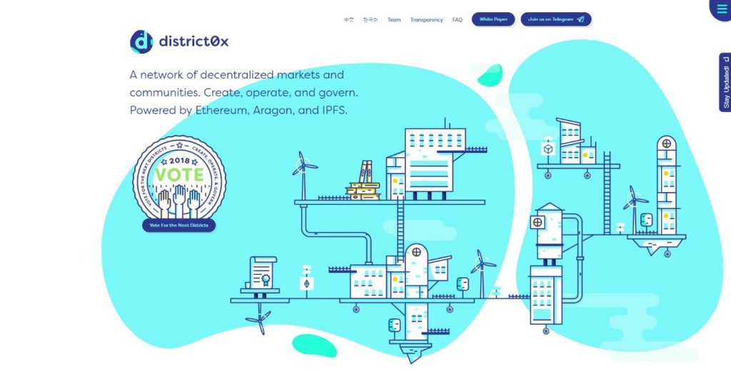 district0x.io landing page design