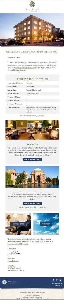 hotel email marketing