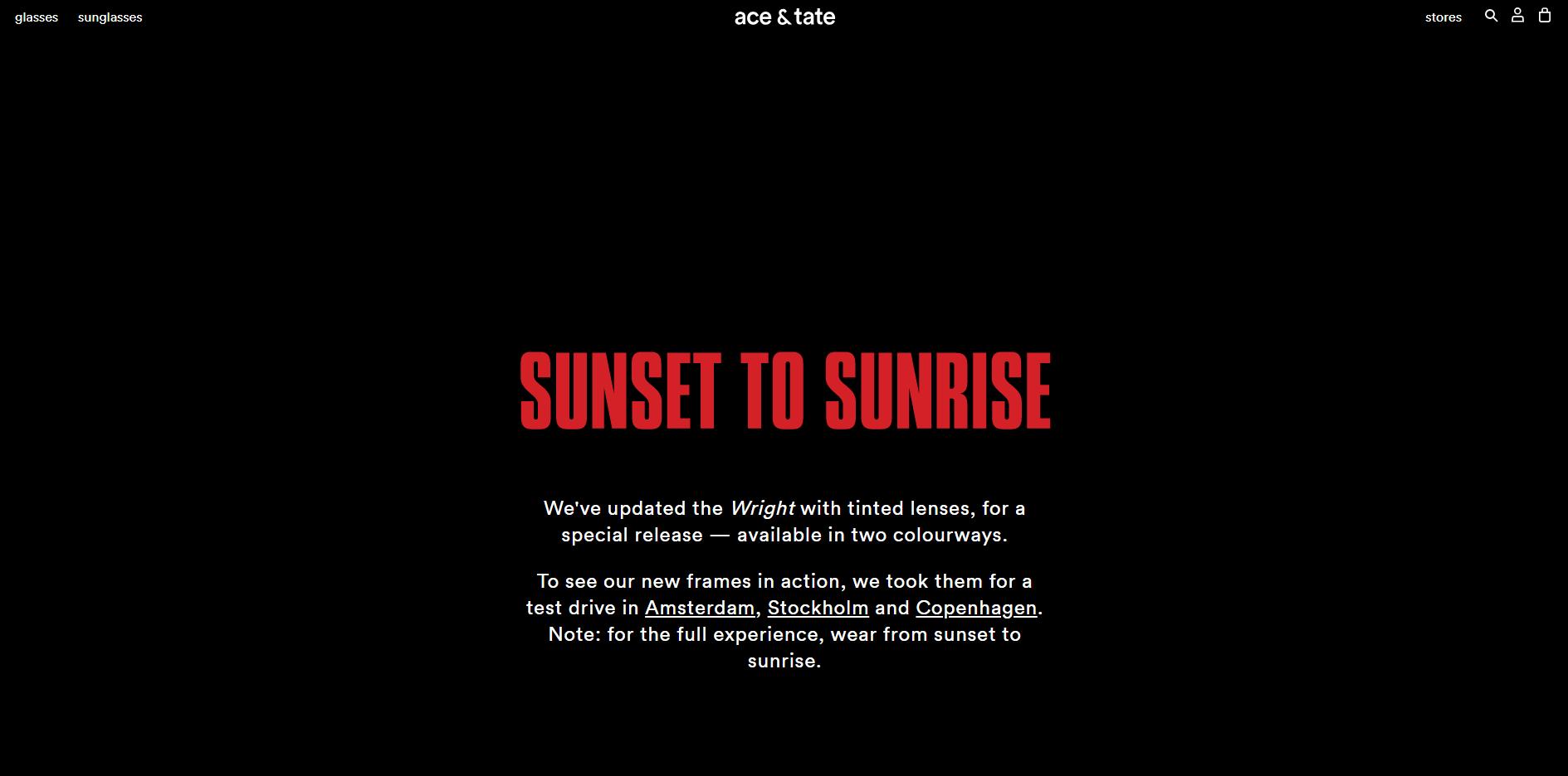 sunrise to sunset ace & tate