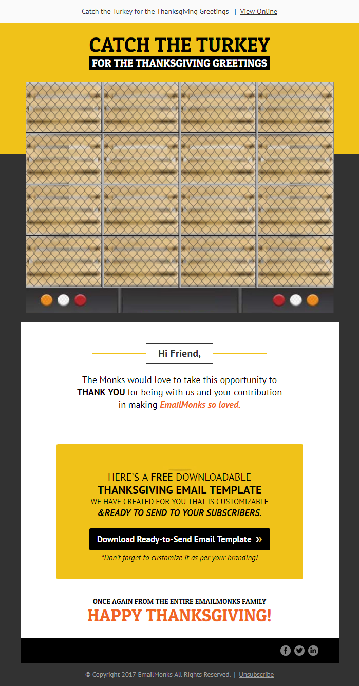 thanksgiving email marketing