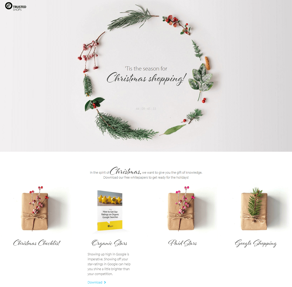 Trusted shops landing page