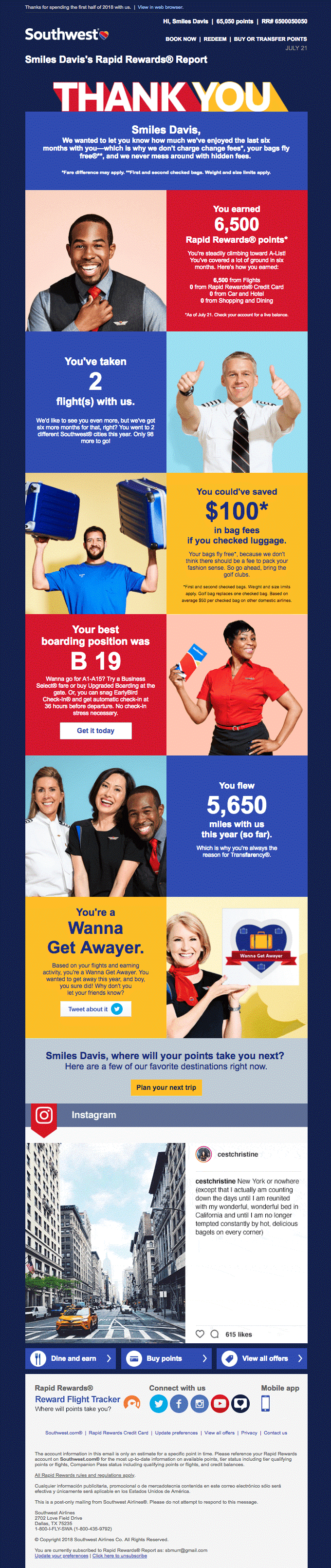 southwest airlines email