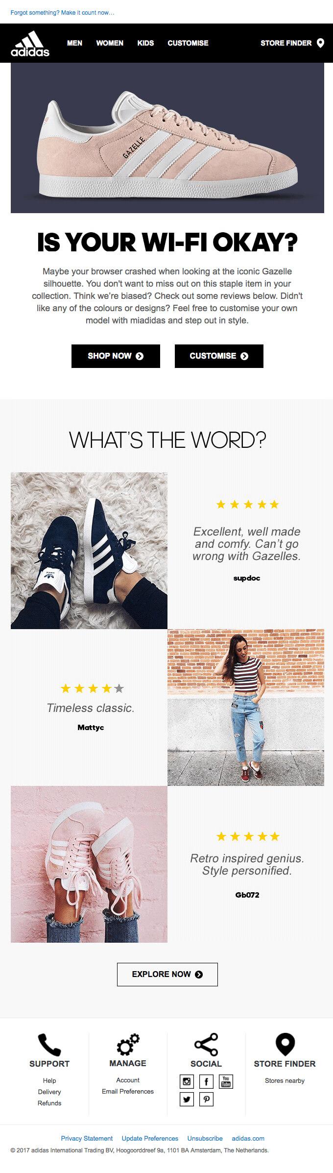 Adidas-Abandoned-Cart-Email