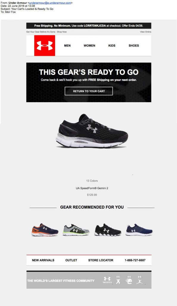 Underarmour-Abandoned-Cart-Email