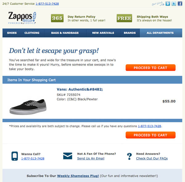 Zappos-Abandoned-Cart-Email
