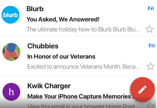 Blurb email subject lines