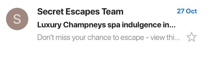 Secret Escapes email subject lines