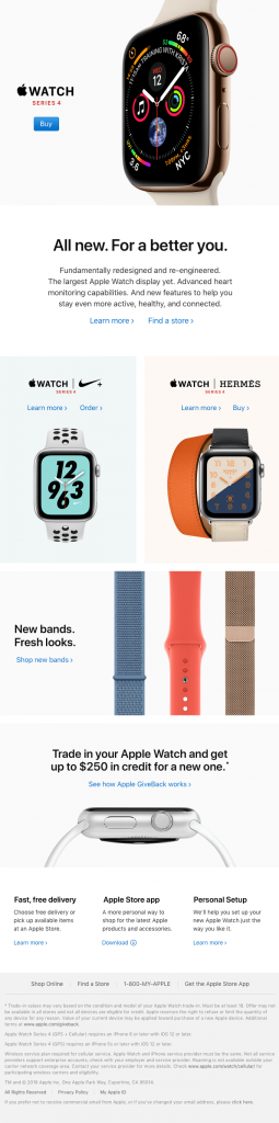 Apple Watch Post purchase stage email