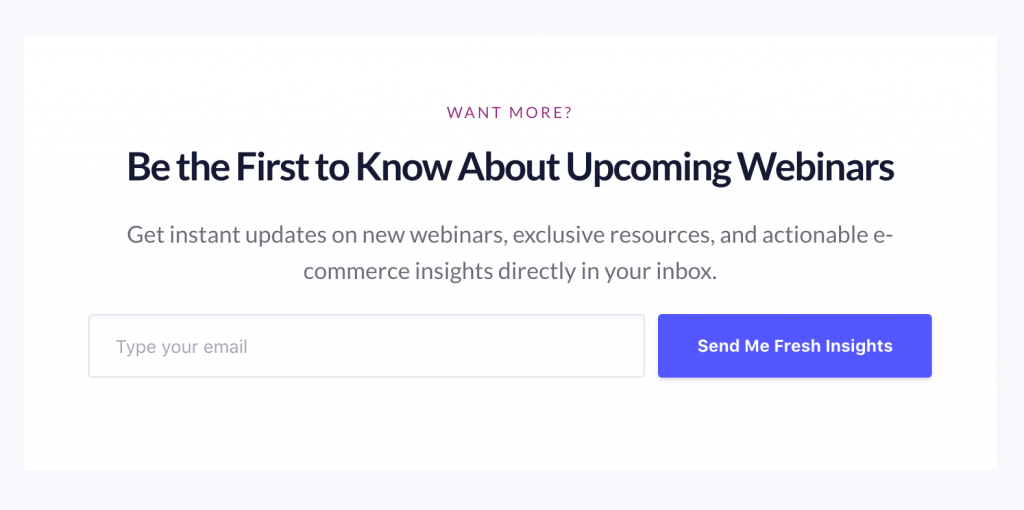 grow email list Webinar