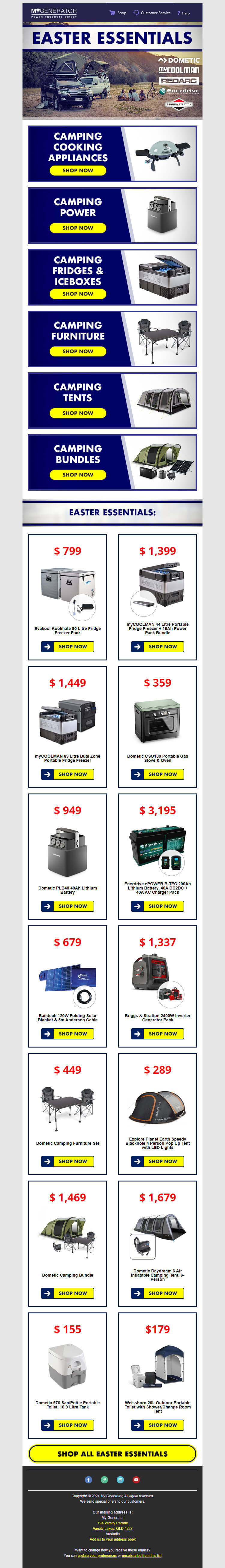 My generator Easter email