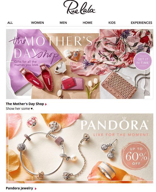 pandora design email