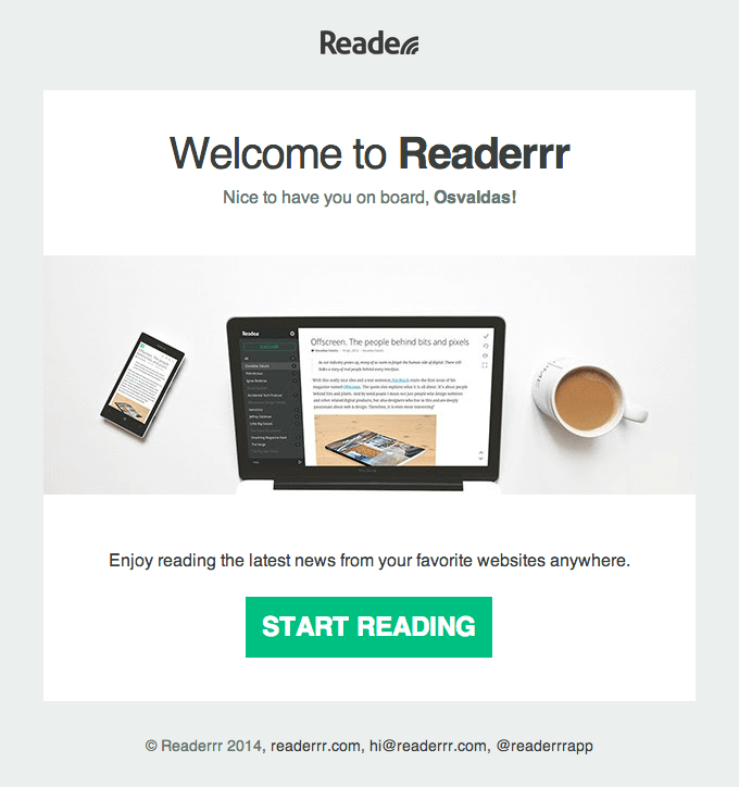 email examples with interesting header