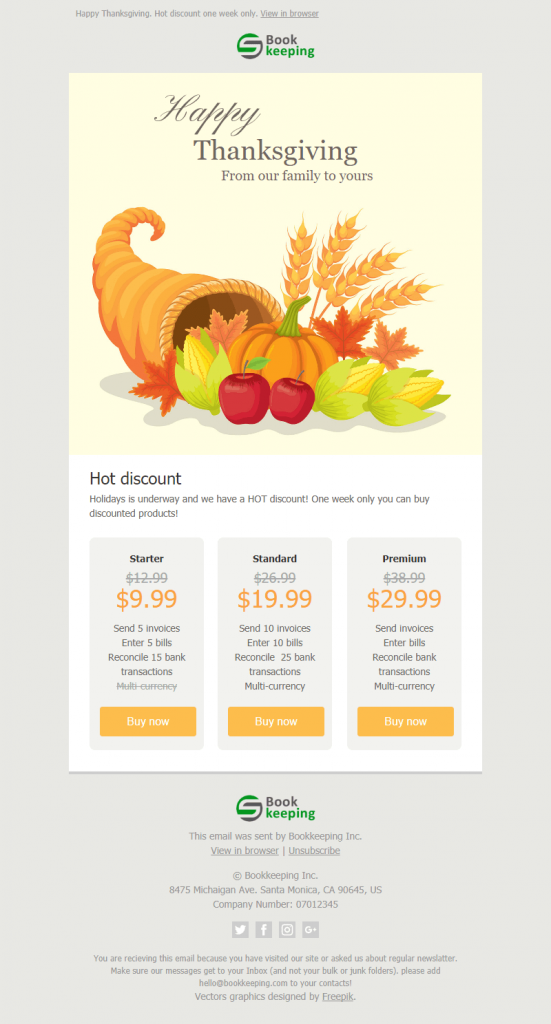 Thanksgiving Newsletter Template Free