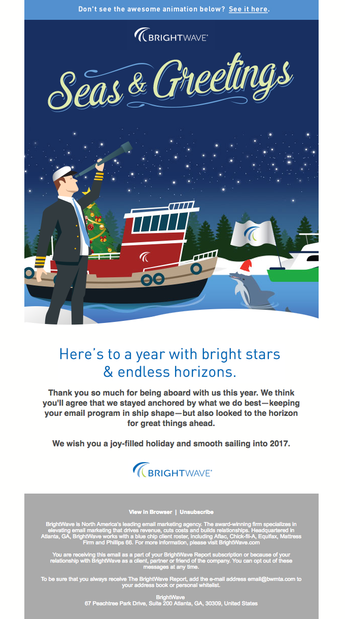 Holiday email marketing campaign