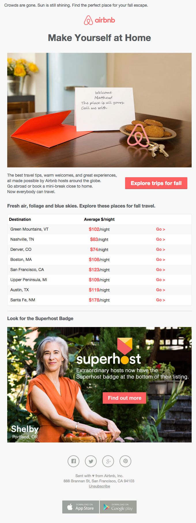 Email Tempalte - Airbnb