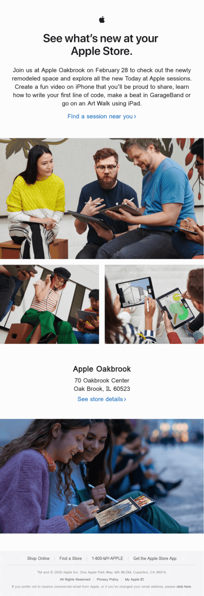 Apple email sample