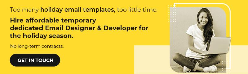 Hire Dedicated Designer & Developer for the Holiday Season