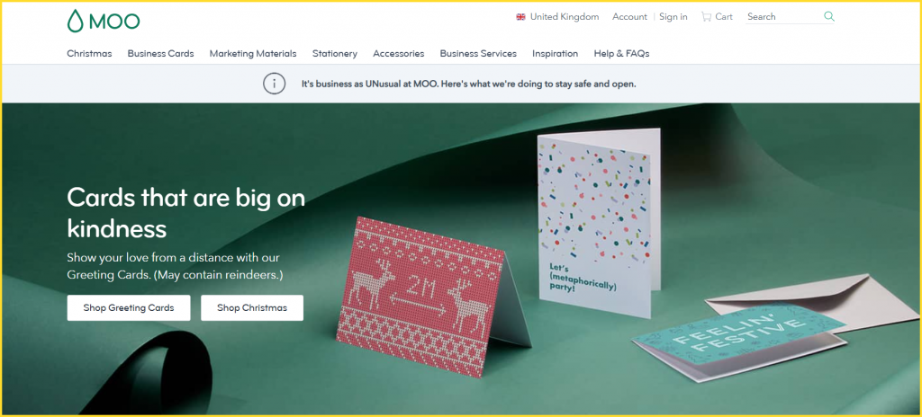 Moo Holiday Landing Page