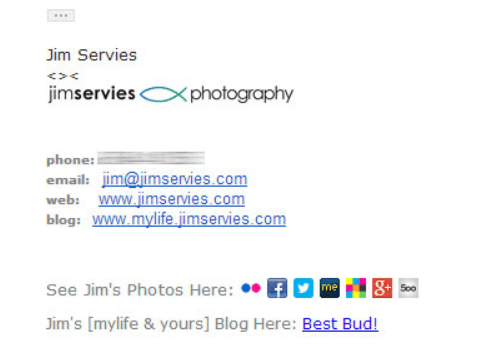email signature with CTA