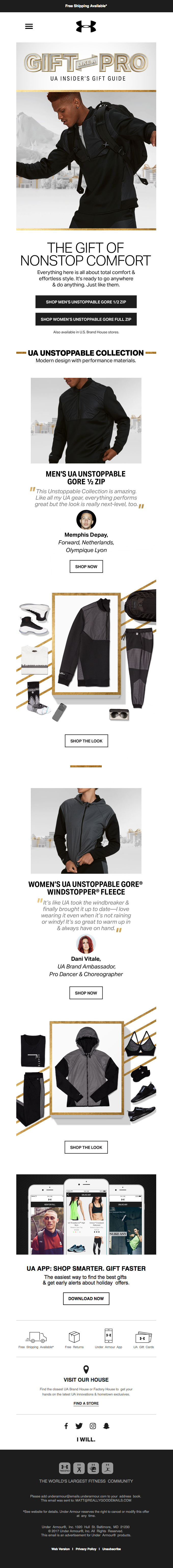 under armour email