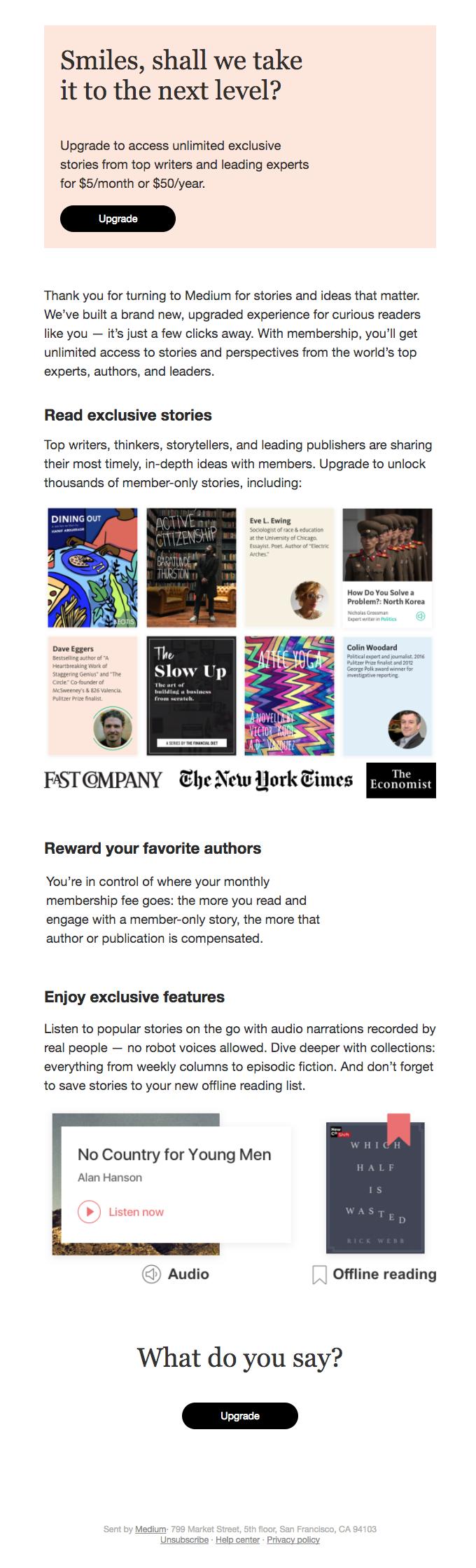 Medium email template