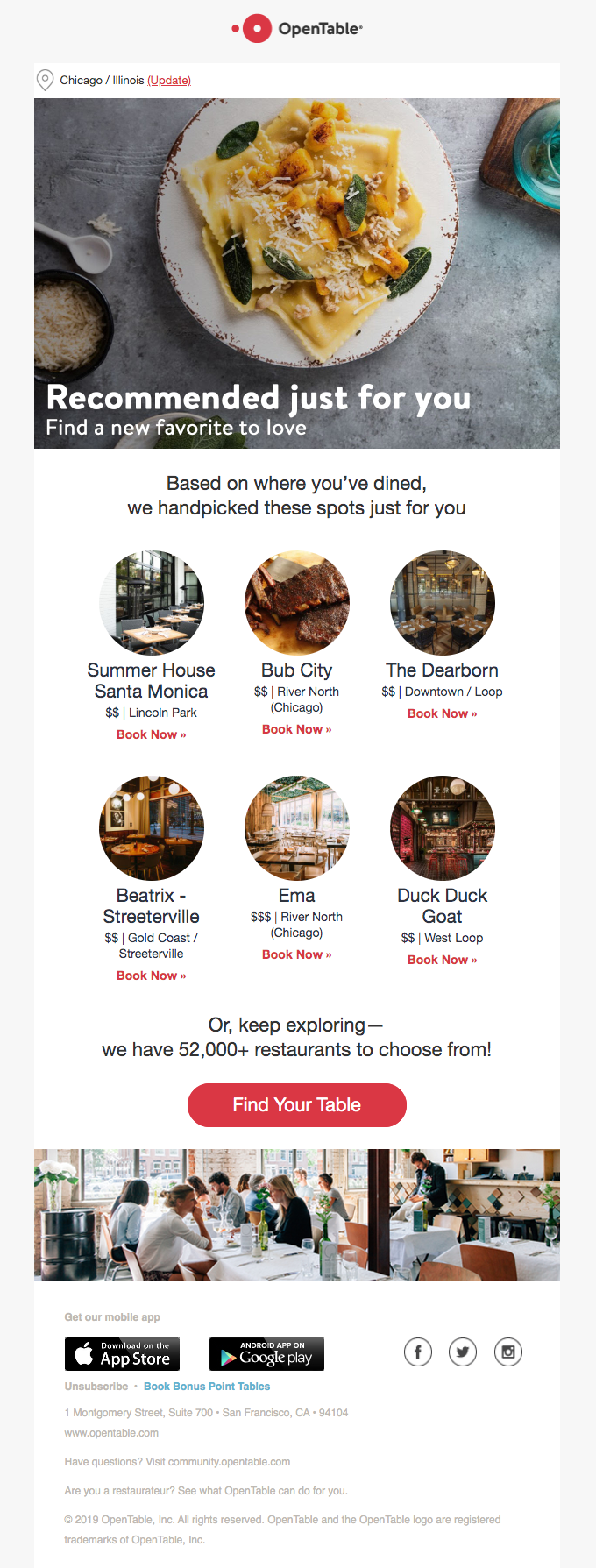 opentable email
