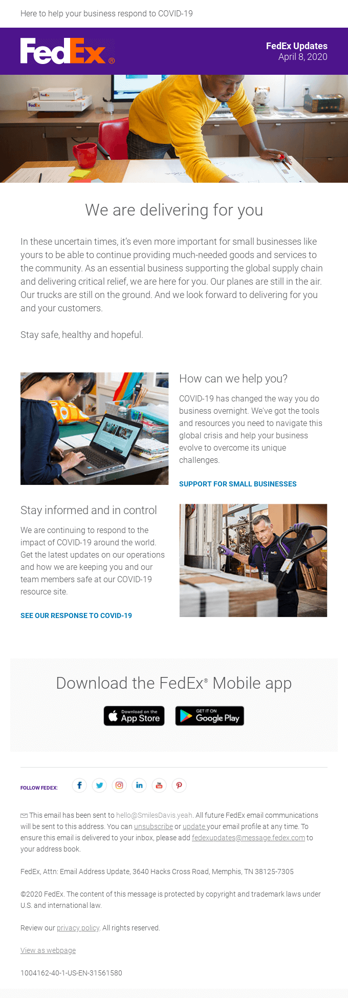 Brand story email