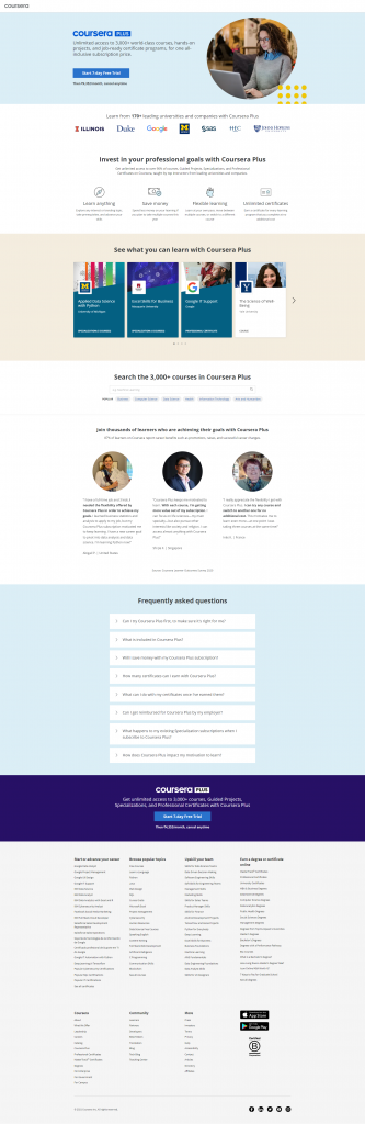 Landing Page For Product Trial