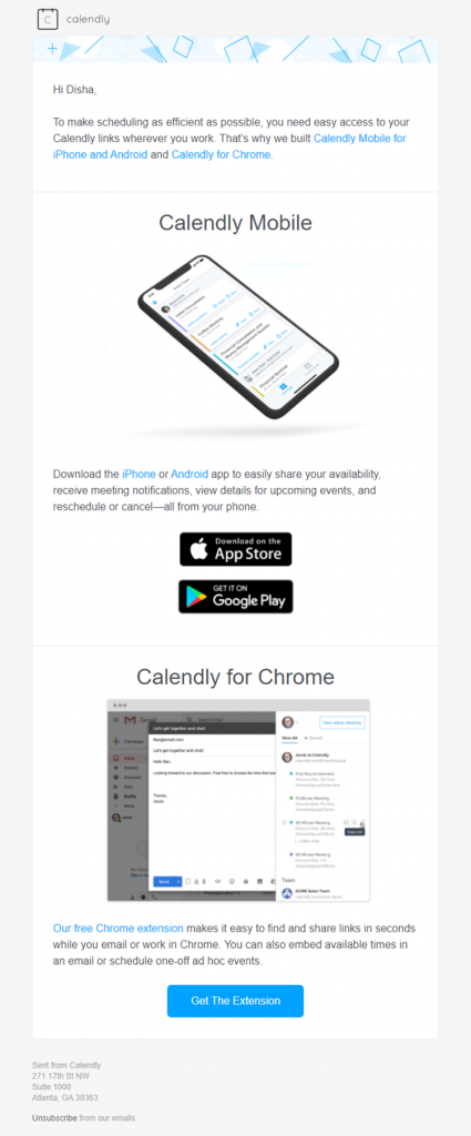 3rd Calendly email