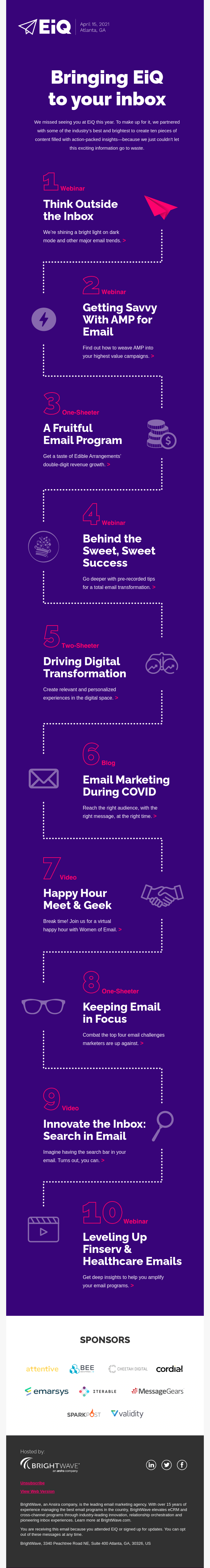 Event Promotion Email Example
