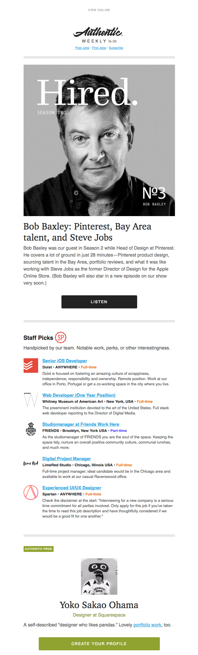 email by Authentic Jobs