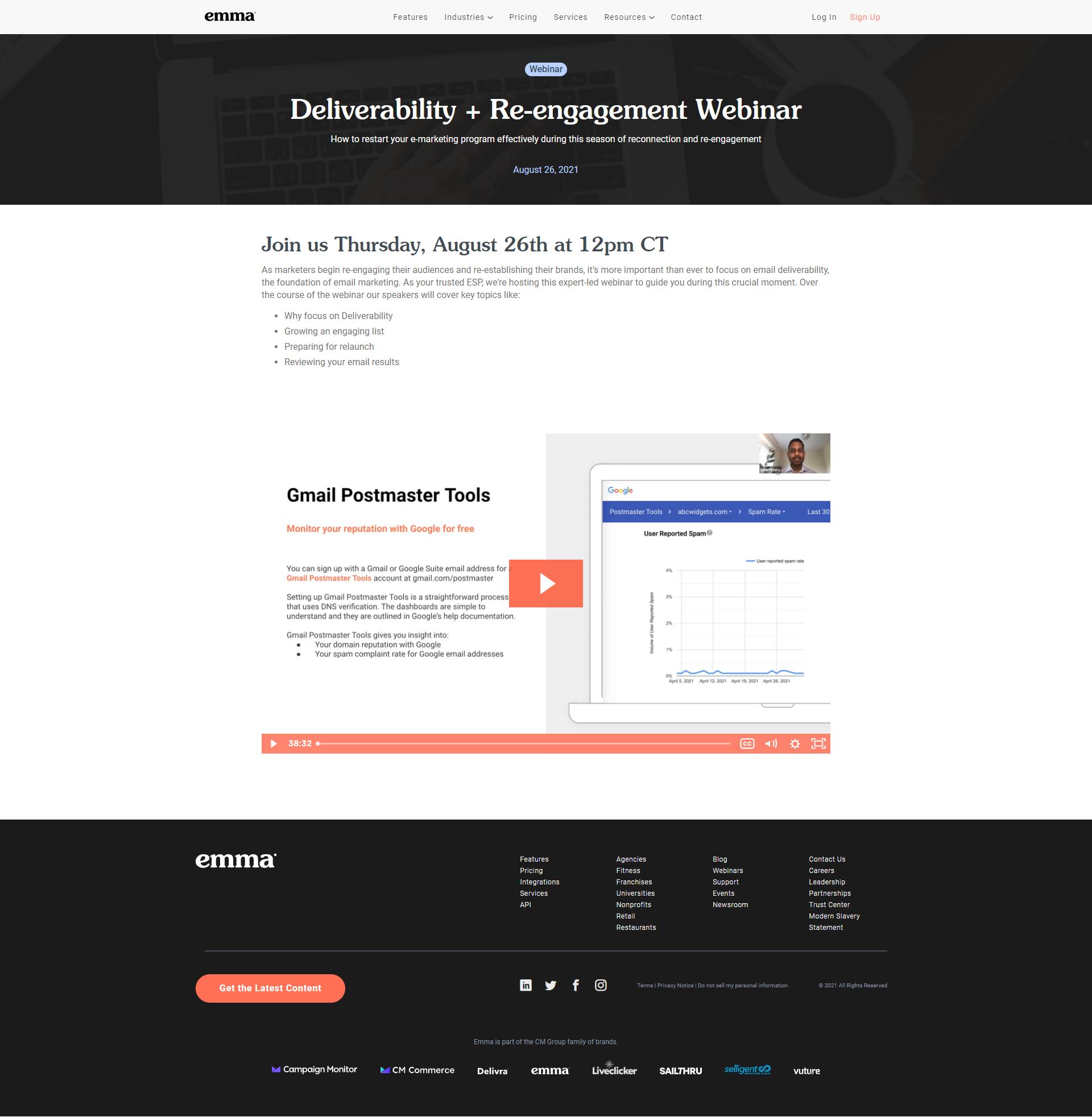 emma Web page example
