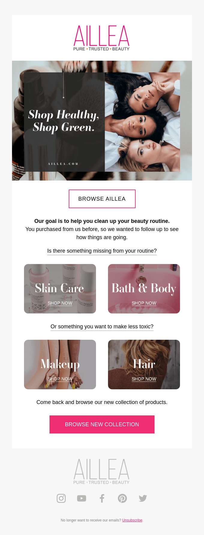 Re-engagement Emails by Aillea