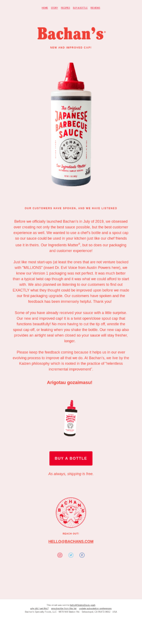 Softer Background Colors email template