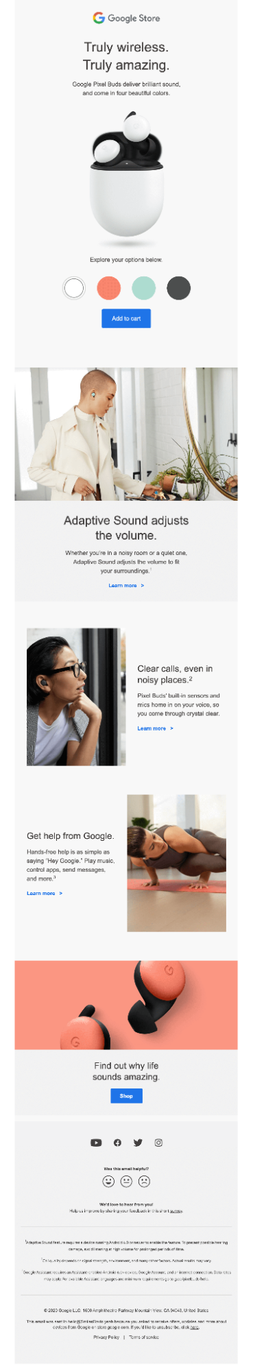 Interactive email sample