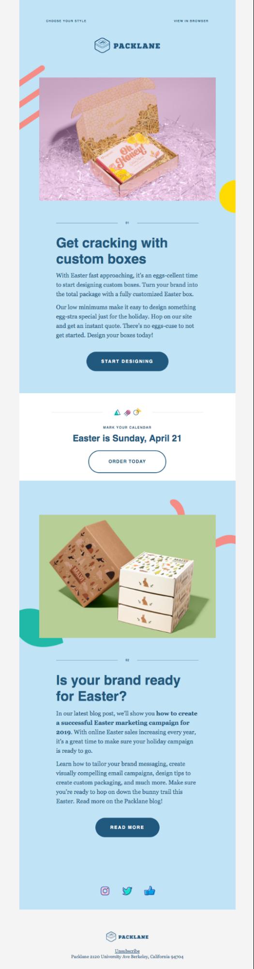 geometric shapes design emails