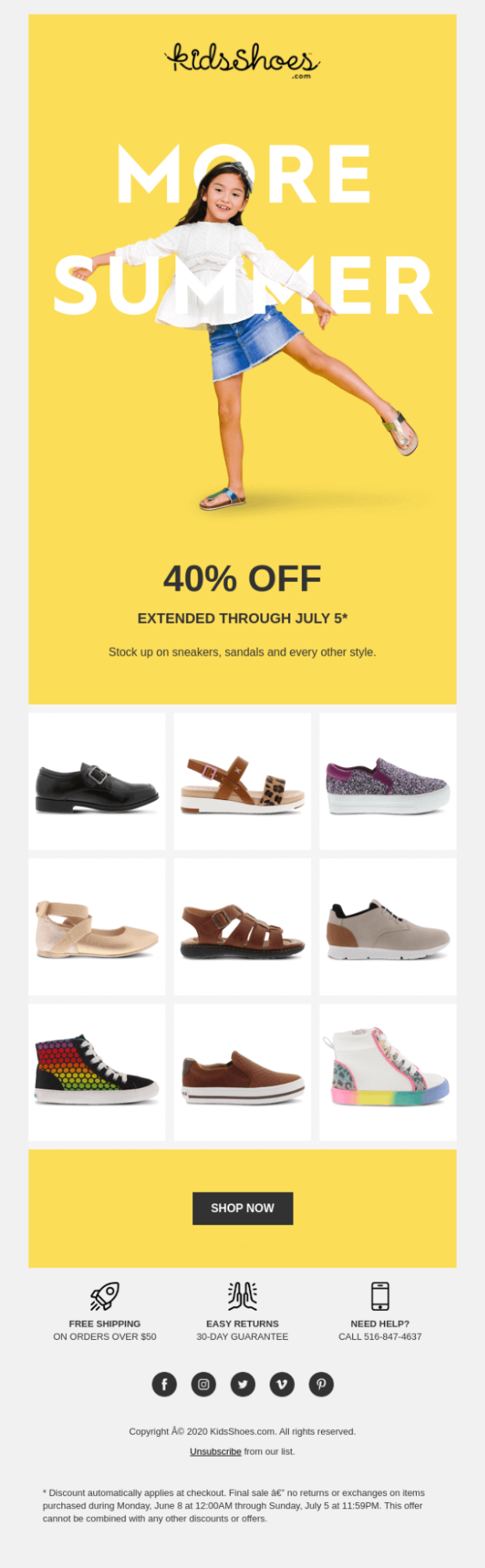 Summer color in email