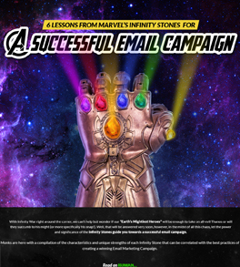 6 Successful Email Campaign Lessons from Marvel's Infinity Stones